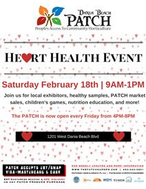 DB Patch Heart Health Event, Feb 18, 2017 at DB Patch from 9 AM to 1 PM