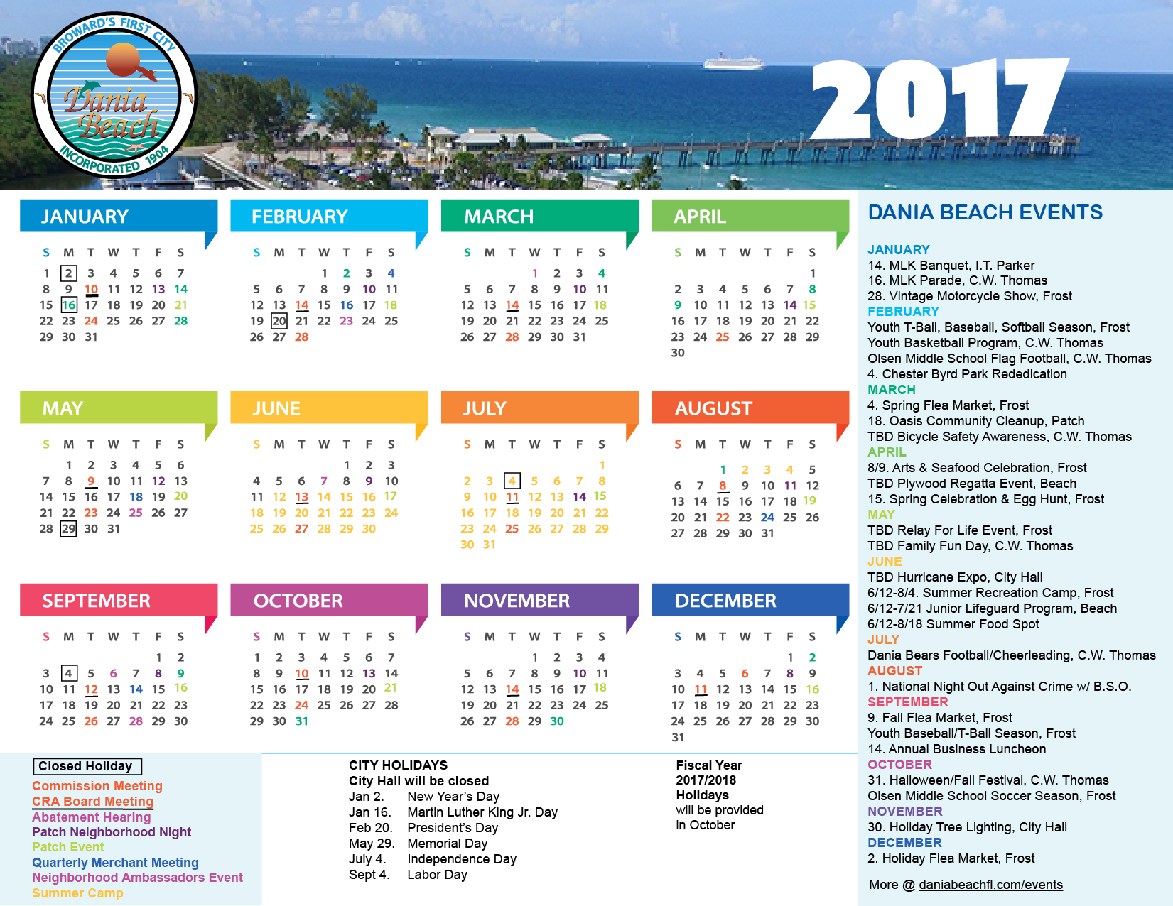 dania beach events calendar
