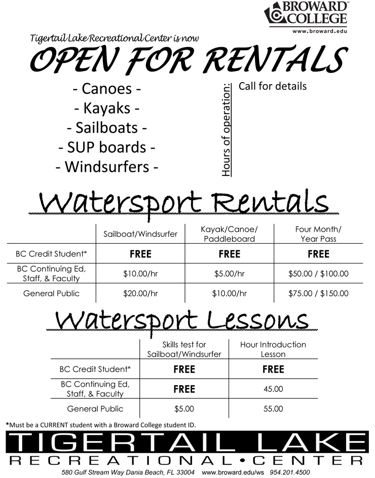 Watersports Rentals Tigertail Dania Beach