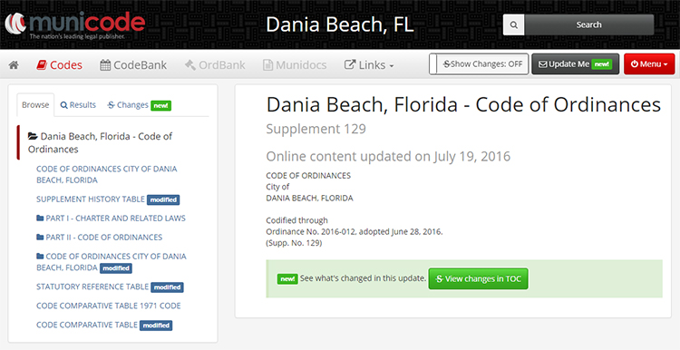 Dania Beach Municode Unified Land Development Code