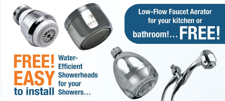 Water Conservation Faucet Shower head Giveaway