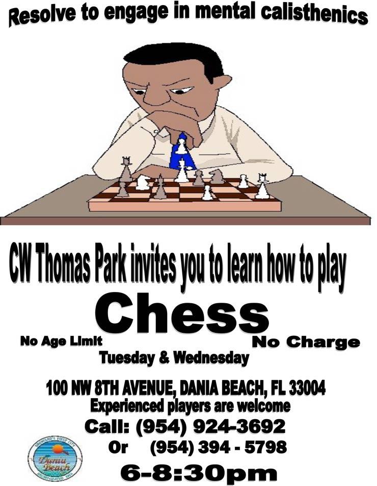 Chess Classes at Dania Beach CW Thomas Park