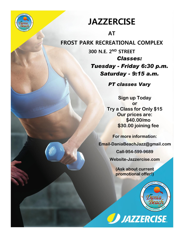 Jazzercise at Dania Beach Frost Park