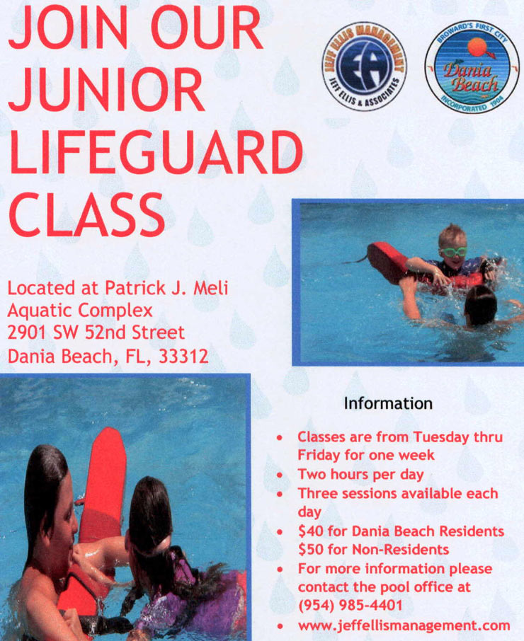 Junior Lifeguard Class at Dania Beach PJ Meli Aquatic Complex