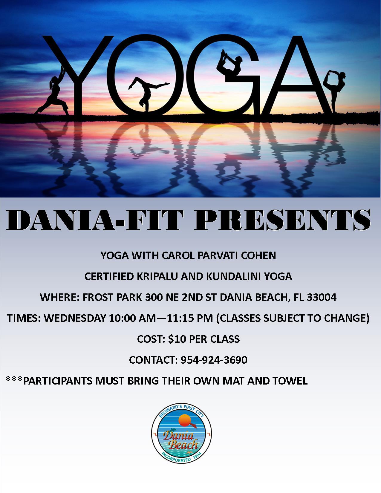 Dania Beach YOGA at Frost Park