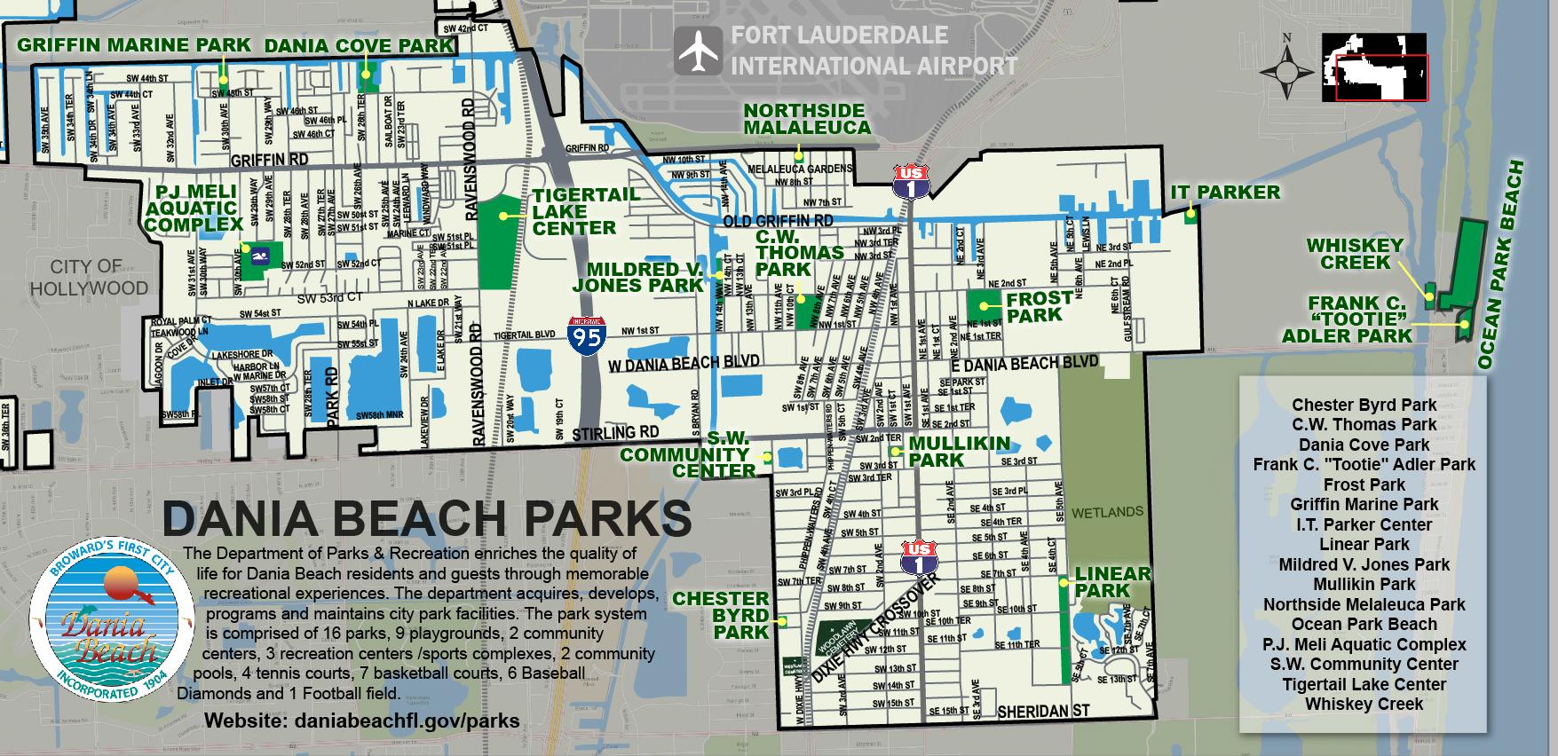 Dania Beach Parks Map